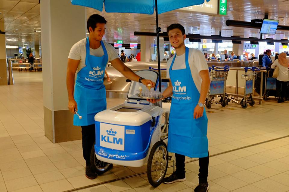 Hippe ijsbakfiets KLM