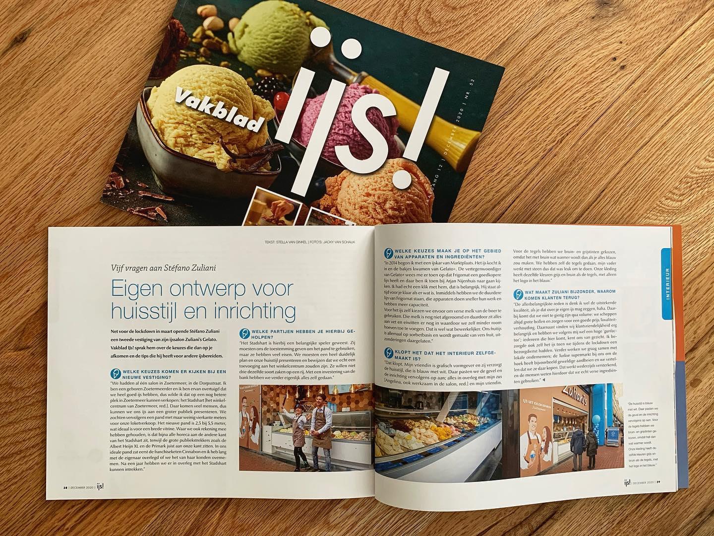 """Dit vinden wij het delen waard!  Een mooi interview in het """"Vakblad IJS!"""". Het magazine is voor ijsbereiders en is erg populair in de ijsbranche.Swipe en zoom in om ons verhaal te lezen. Het gaat over de winkel in het Stadhart. Welke keuzes wij hebben gemaakt voor de inrichting en met welke partijen wij hebben samengewerkt!"""